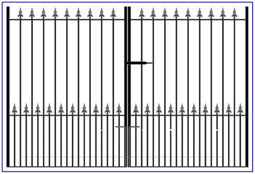 Flat top Double Gates