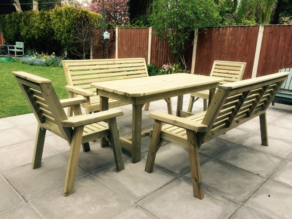 churnet outdoor dining set sits eight rh adgates co uk