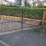 blue cathedral driveway gates