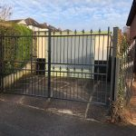 flat top security double gates