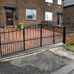 windsor driveway gate with multiple openings
