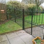 garden double gate and railing
