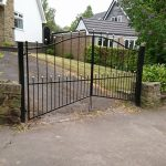custom ball top double gates
